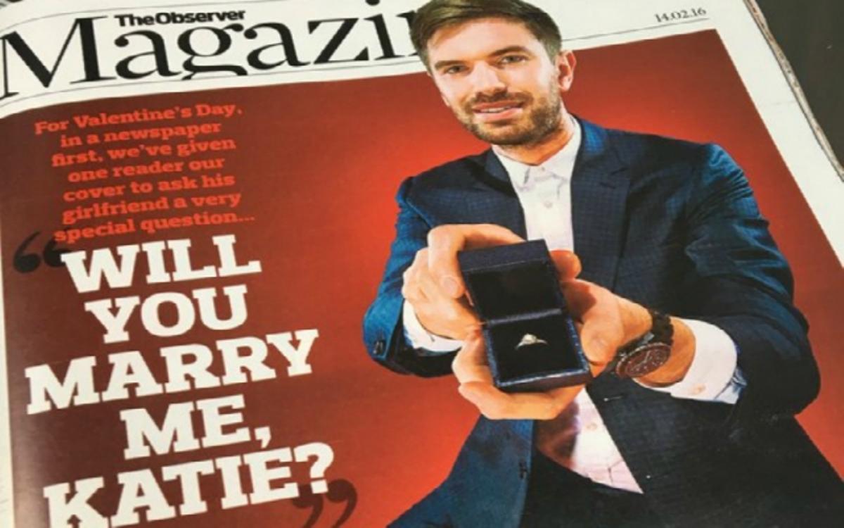 Предложение руки и сердца с обложки журнала