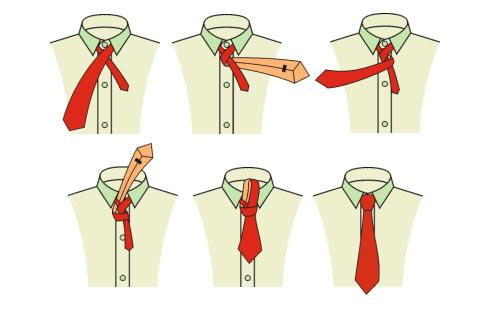 Как завязать тонкий галстук «простым узлом»