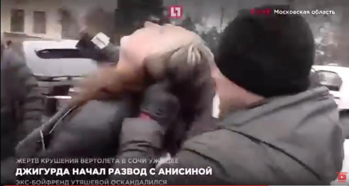 Джигурда подрался с адвокатом Жориным у здания суда под Москвой. Видео
