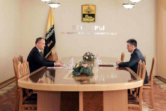 Президенты Приднестровья и Молдовы встретились впервые за восемь лет