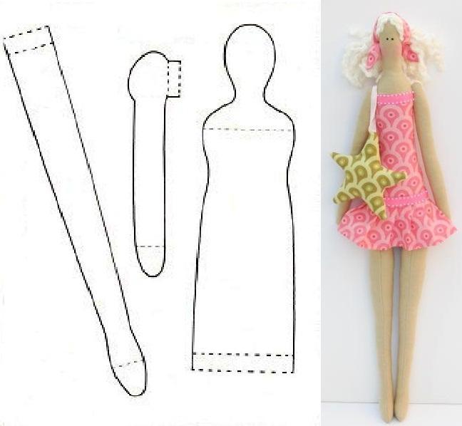 Куклы выкройки пошаговая инструкция