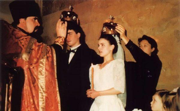 Гордеева и Гриньков обвенчались в православной церкви