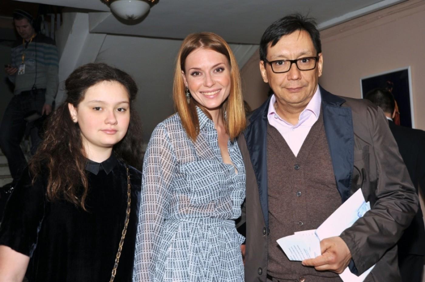 Егор Кончаловский с первой женой Л.Толкалиной и дочерью Марией