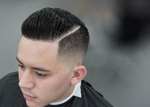 Причёска Полубокс мужская, фото