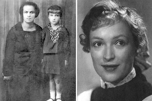 Клара Лучко в детстве и в  школьные годы