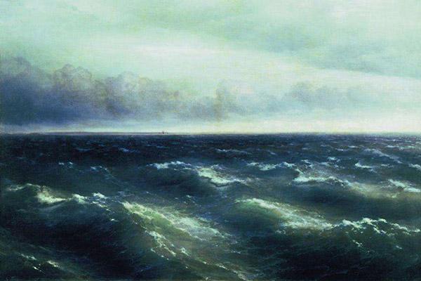 """Картина художника """"Черное море"""""""