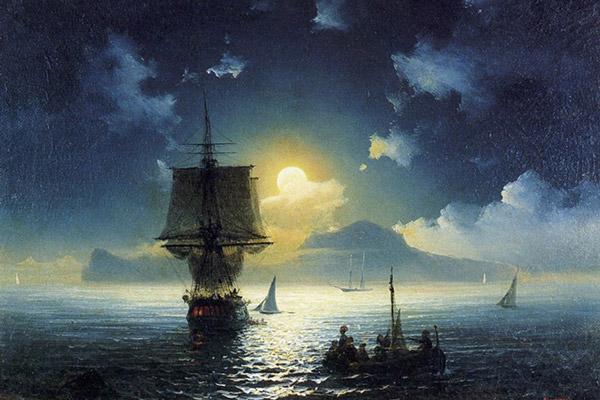 """Картина """"Лунная ночь над Капри"""""""