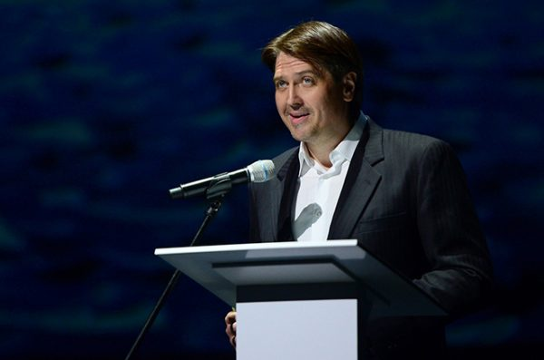 Денис Матросов в роли телеведущего