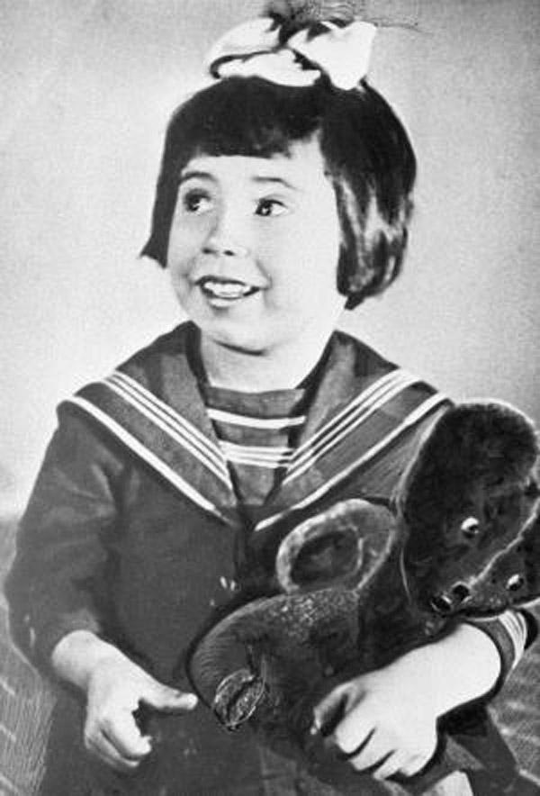 Актриса Татьяна Самойлова в детстве