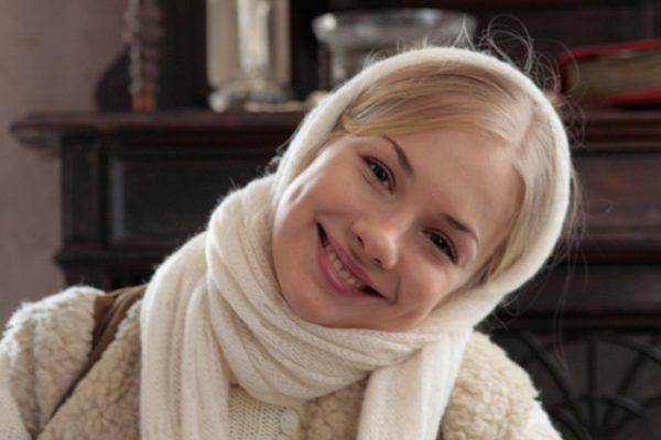 Елена Аросева на съемках