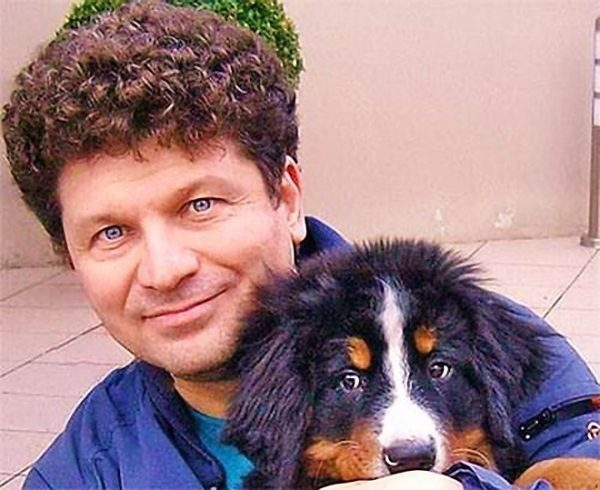 Сергей Юрьевич Минаев с любимой собакой