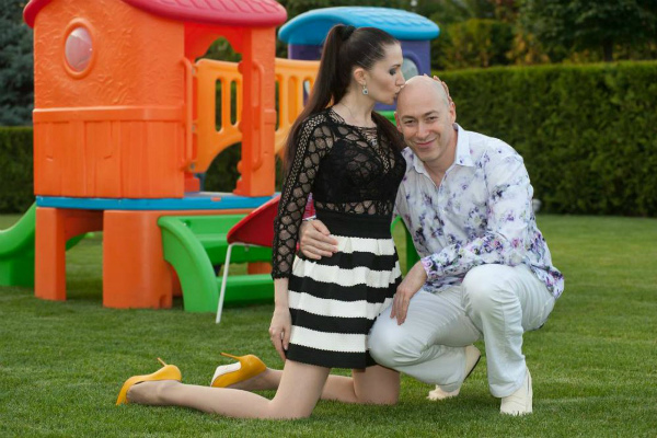 Дмитрий Гордон с женой