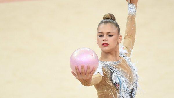Александра Сергеевна Солдатова  на тренировке