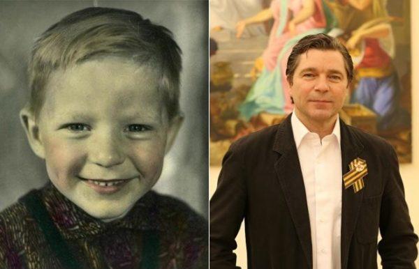 Актер Сергей Маховиков в детстве и сейчас