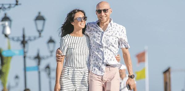 Сергей Гореликов с женой Марией Мельник