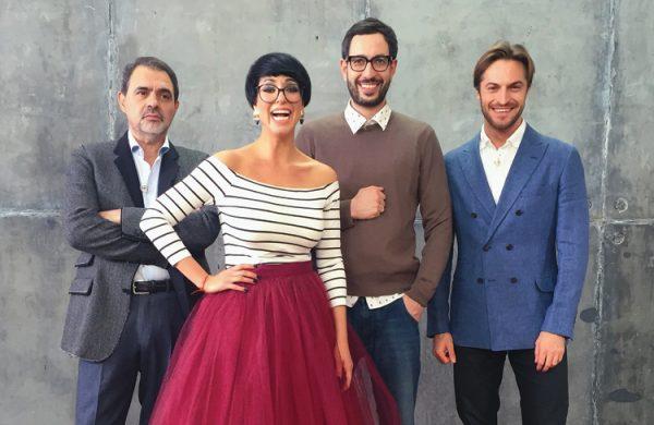 Катя Гершуни с командой стилистов