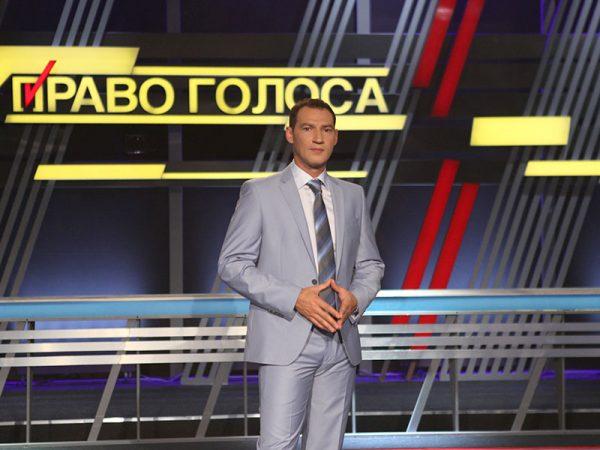 "Роман Бабаян на съемках программы ""Право голоса"""
