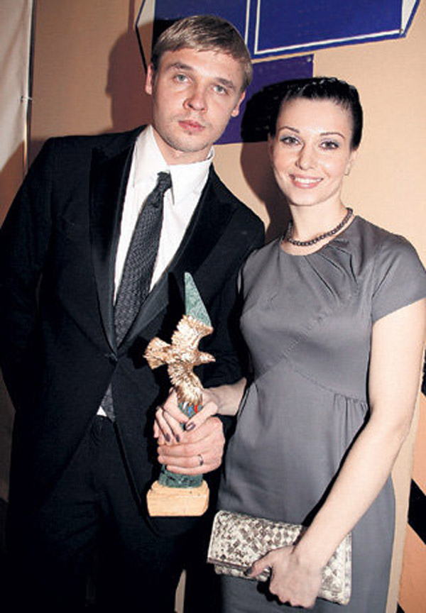 Александра Урсуляк с бывшим мужем Александром Голубевым