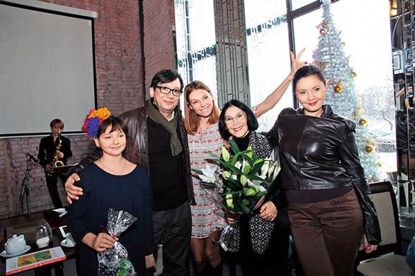 Екатерина Двигубская со своей семьей