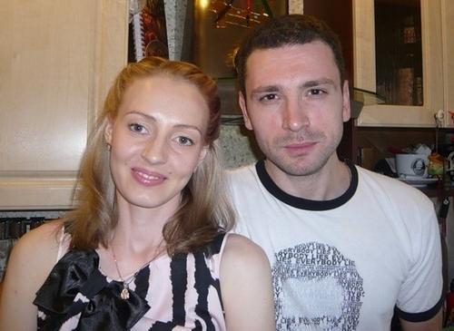 Актер Антон Хабаров с женой Еленой
