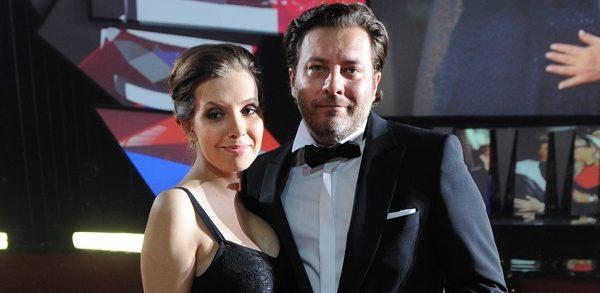 Сергей Юрьевич Минаев с женой