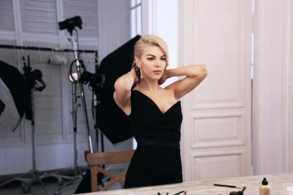 Оксана Сидоренко готовится к съемкам