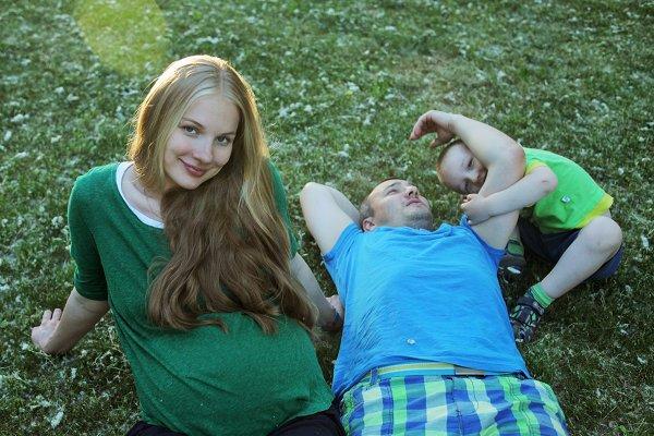 Елена Аросева с мужем Дмитрием  общим сыном