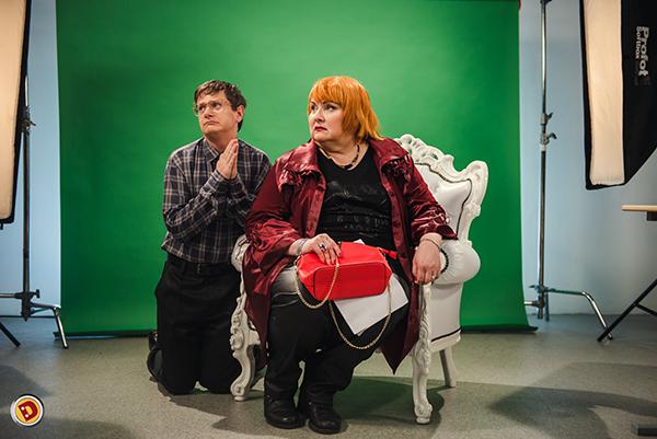 Марина Поплавская на съемках