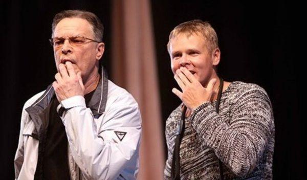 Илья Соколовский и Ивар Калнынш на сцене театра