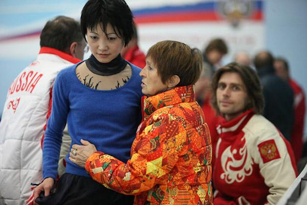 Тамара Москвина со своей подопечной Юко Кавагути