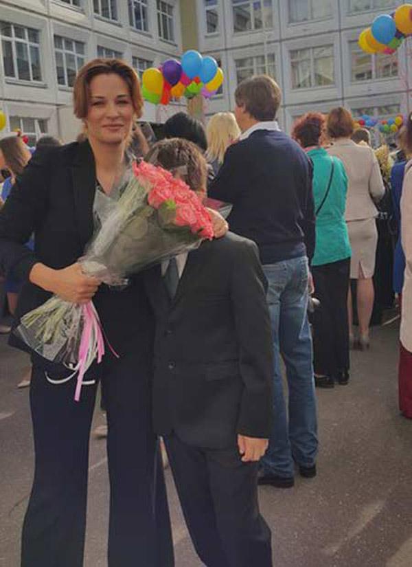 Нина Гогаева со своим сыном