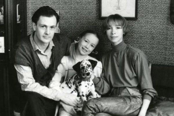 Дарья Мороз в детстве со своими родителями