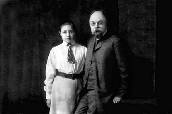 Марина Цветаева с отцом Иваном Владимировичем