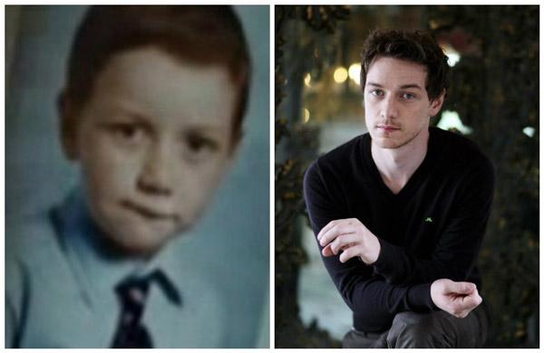 Джеймс Макэвой в детстве и сейчас