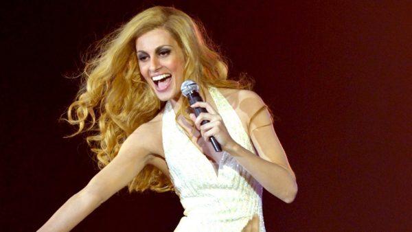 Певица Далида на сцене