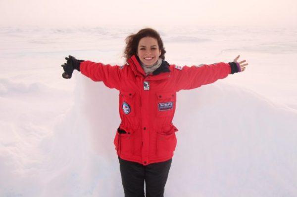 Анастасия Шутова на Северном полюсе