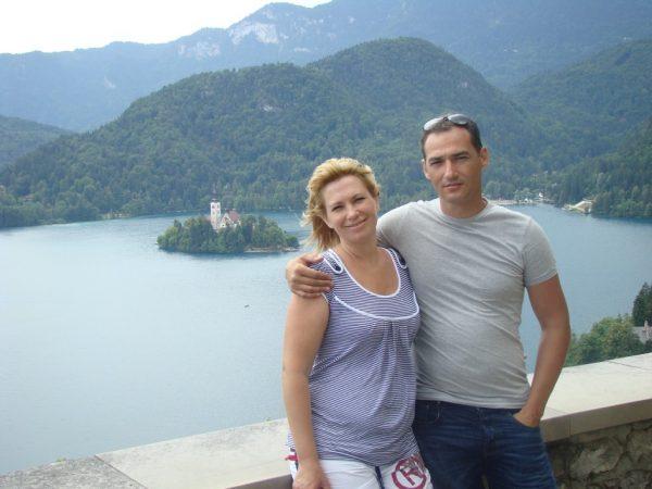 Роман Бабаян со своей женой на отдыхе