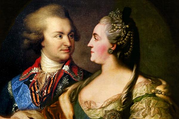 Григорий Потемкин и царица Екатерина