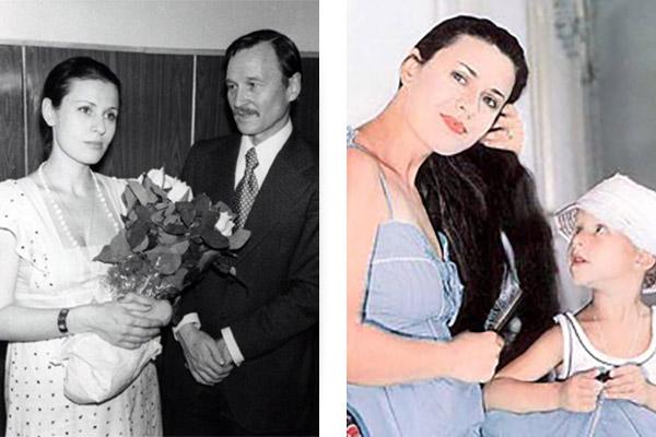 Валентина Толкунова с мужем и ребенком