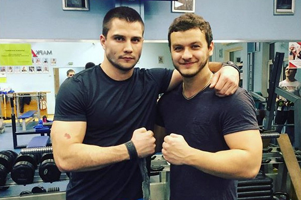 Матвей Зубалевич со своим другом Филиппом Бледным