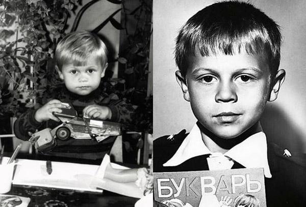 Павел Деревянко в детстве