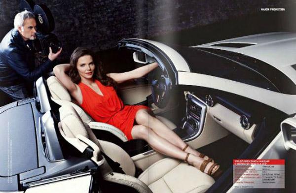 Елизавета Боярская рекламирует дорогие машины