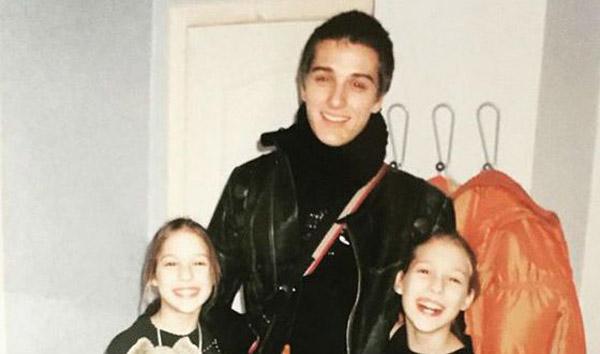 Станислав Бондаренко в молодости со своими младшими сестрами Светланой и Снежаной
