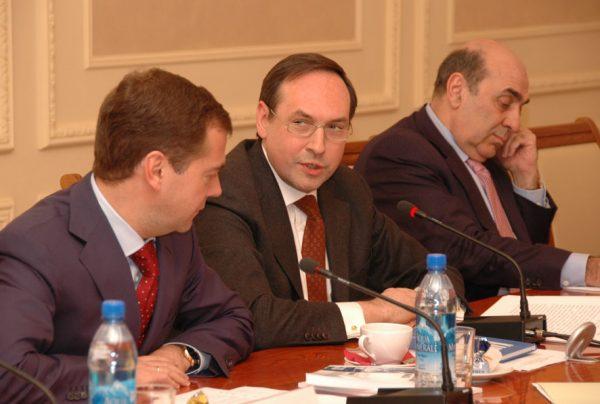 Вячеслав Никонов и Дмитрий Медведев