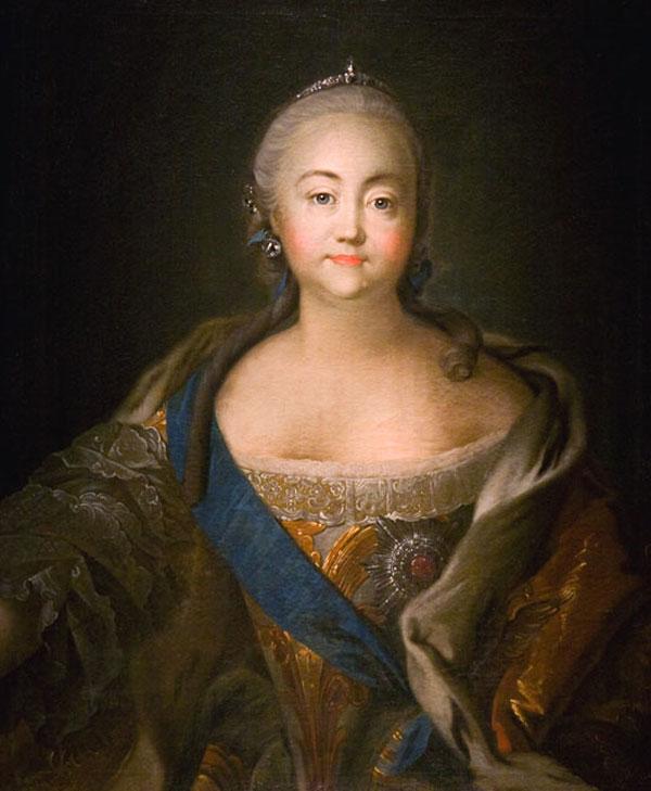Императрица Елизавета Петровна автопортрет