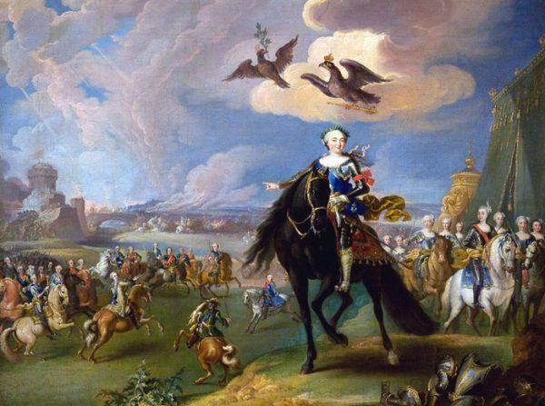Императрица Елизавета со свитой
