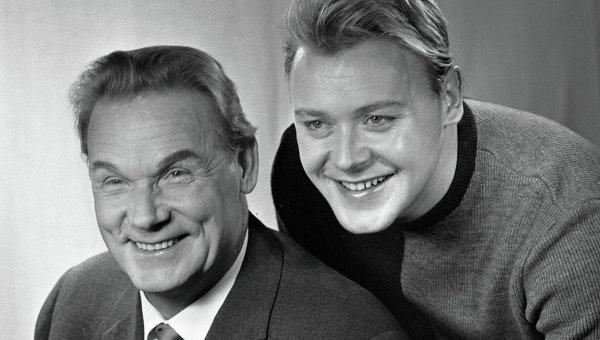 Актер Сергей Столяров с сыном