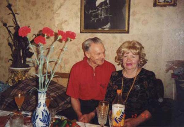 Георгий Юматов с женой в последние годы жизни