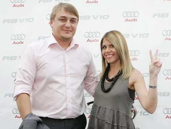 Настя Макаревич с мужем Евгением Першиным
