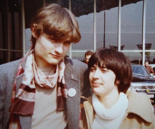 Александр Васильев в молодости со своей женой